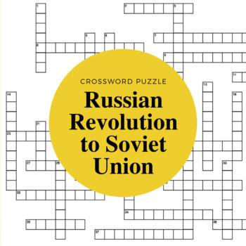 Russian Revolution to Soviet Union Crossword Puzzle