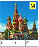 Russian Themed Alphabet Clip Cards