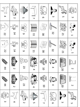 Lesson 12 Russian Vocabulary Dominoes Match Game Instructions