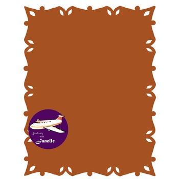 Rust Brown Clip Art Decoration Scrapbooking Elements - 60 items