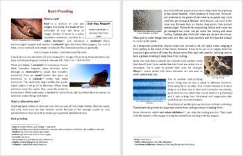 Rust-Proofing - Reading Article - Grades 5-7