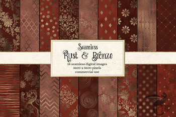 Rust and Bronze Digital Paper backgrounds