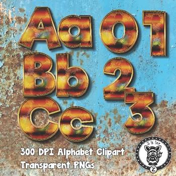 Rusted Alphabet Alpha Clip Art