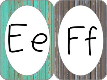 Rustic Alphabet Cards