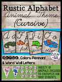 Rustic Alphabet Cursive Font - Animal Theme
