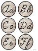 Rustic Alphabet Cursive Font - Animal Theme