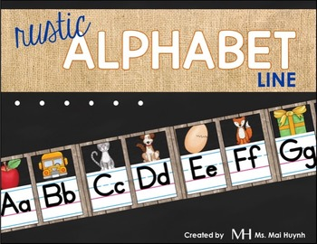 Rustic Alphabet Line A-Z