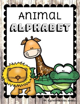 Rustic Animal Alphabet Classroom Poster Set