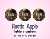Rustic Apple 1-12 Table Numbers