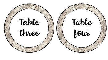 Rustic Around the Room Labels