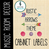 Rustic Arrows Classroom Theme - Cabinet Labels, Rhythm and Glues