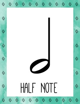 Rustic Arrows Music Room Theme - Note Names, Rhythm and Glues