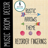 Rustic Arrows Music Room Theme - Recorder Fingerings, Rhyt