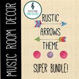 Rustic Arrows Music Room Theme - Super Bundle, Rhythm and Glues
