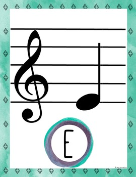 Rustic Arrows Music Room Theme - Treble Notes, Rhythm and Glues