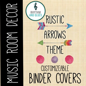 Rustic Arrows Music Room Theme - Binder Covers
