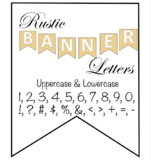 Rustic Banner Letters and Numbers EDITABLE