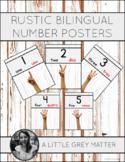 Rustic Bilingual Number Posters