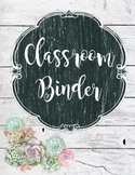 Rustic Binder Covers- No Dates