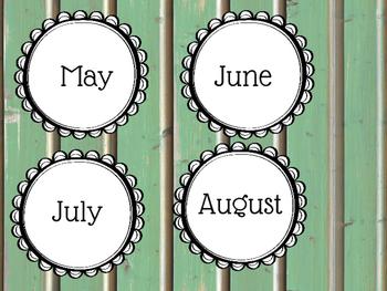 Rustic Birthday Chart