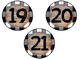Rustic Black & White Plaid and Wood Number Labels