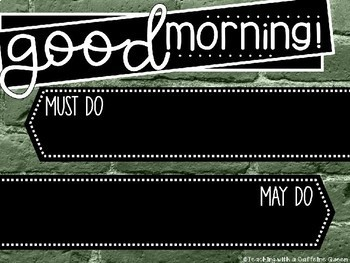 Rustic Brick EDITABLE Morning Message Templates - PowerPoint Slides