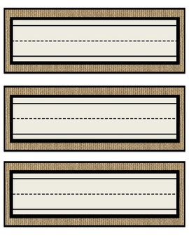 Rustic Burlap Name Tags