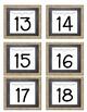 Rustic Burlap Number Labels 1-30