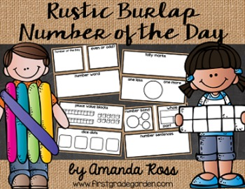 Rustic Burlap Number of the Day {Poster Set & Worksheets}