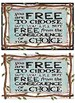 Rustic Burlap Rules And Logical Consequences FREEBIE!