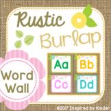 Burlap Word Wall