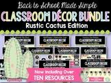 Rustic Cactus Classroom Decor BUNDLE