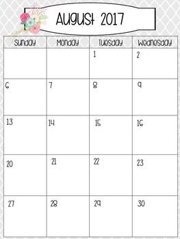 Rustic Calendar 2017-2018