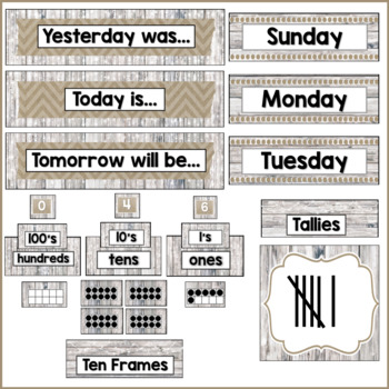 Rustic Classroom Decor Calendar Helper
