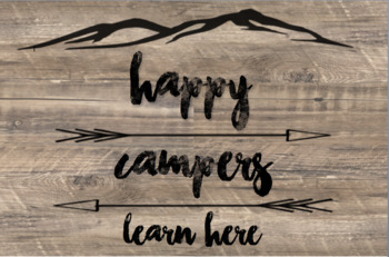 Rustic, Camping Theme, Happy Campers, poster