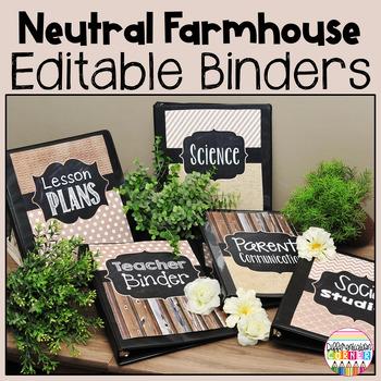Rustic Chalkboard Binder Covers Editable
