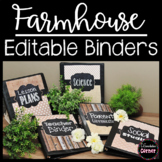 Farmhouse Classroom Chalkboard Binder Covers Editable