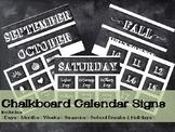 Rustic Chalkboard Calendar time Signs