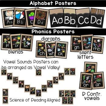 Rustic Chalkboard Classroom Decor