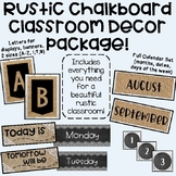 Rustic Chalkboard / Country Chic Classroom Decor Set