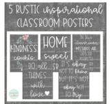 Rustic Farmhouse Chalkboard Inspirational Classroom Posters
