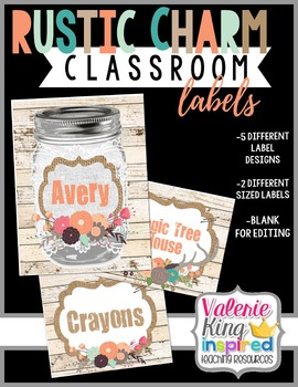 Rustic Charm Collection: Classroom Labels (Farmhouse Style)
