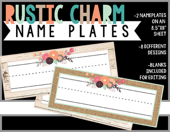 Rustic Charm Collection: NamePlates (Farmhouse Style)