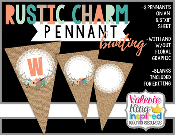 Rustic Charm Collection: Pennant Bunting Banner (Farmhouse Style)