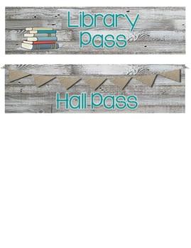 Rustic Charm Hall Passes
