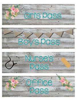 Fixer Upper Style Hall Passes