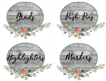 Fixer Upper Style Large Supply Labels