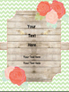 Rustic Chevron Binder Cover