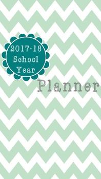 Rustic Chevron Teacher Planner 2017-18