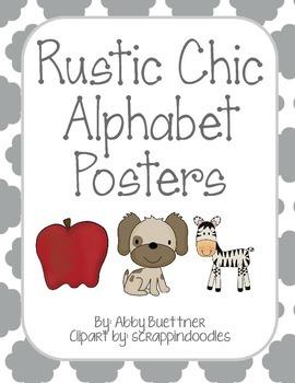 Rustic Chic Alphabet Posters
